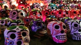 Dia de los Muertos Skulls for Sale