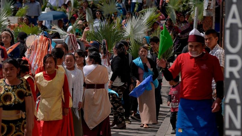 Procesión indígena de Semana Santa