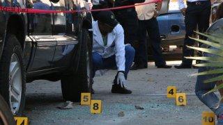Escena de un crimen de periodista