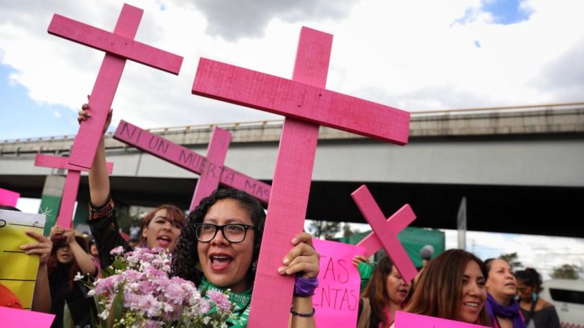 Protesta por feminicidios