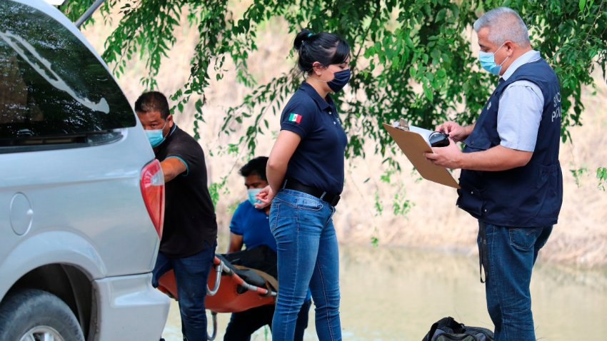 Rescate de migrante en el Río Bravo