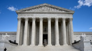 In this April 19, 2018, file photo, the U.S. Supreme Court Building is seen in Washington, D.C.