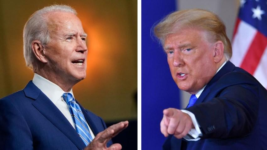 Collage de fotos de Joe Biden y Donald Trump