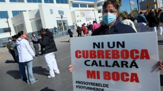 Protesta de personal hospitalario en Ciudad Juárez