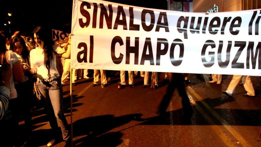 """Marcha de apoyo al """"Chapo"""" Guzmán"""