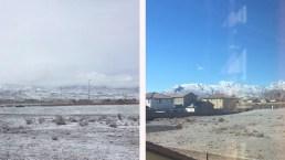Nieve un día, nada al siguiente: tiempo en Las Vegas