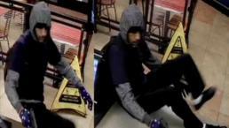 Salen a la luz imágenes de asalto a restaurante