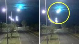 En video: impresionante bola de fuego ilumina el cielo