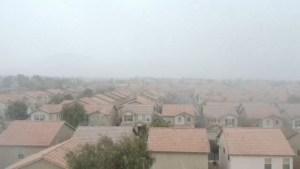 ¡Nieve en Las Vegas! Tras 10 años se vuelve a ver una tarde blanca