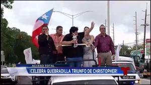 Christopher celebra en grande con su pueblo