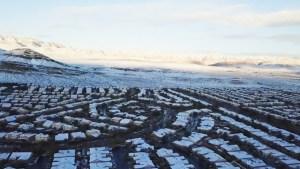 Las Vegas de blanco, así quedó vecindario tras nevada