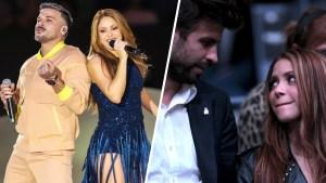 Shakira, entre Pedro Capó y Gerard Piqué en Madrid