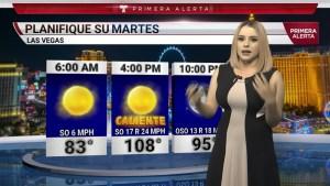 Descripcion de las temperaturas en Las Vegas