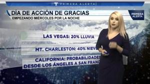Descripcion de las temperaturas en el area de Las Vegas