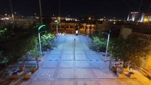 Instalan en Las Vegas postes de luz que se cargan al pasar