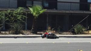 Motociclista en condición crítica tras accidente