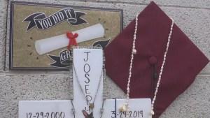 Madre recuerda a hijo que murió atropellado a un mes de su graduación