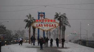 """Recordando la última tormenta de nieve que """"atacó"""" al Strip"""