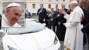El espectacular Lamborghini del papa Francisco