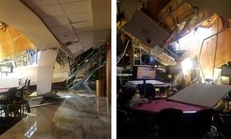Reportan colapso de techo en un casino de Los Ángeles
