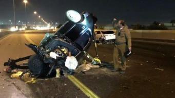 Conductora hispana provocó una colisión múltiple