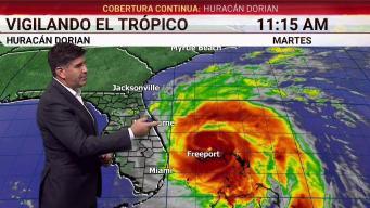 Dorian se degrada pero sigue como un poderoso huracán