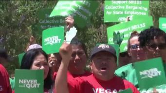 Empleados del estado luchan por convenios colectivos