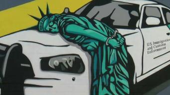 Estatua de la libertad arrestada por ICE en Las Vegas
