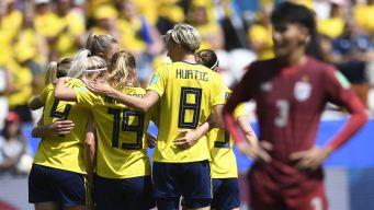 Suecia cumple y golea a Tailandia para estar en octavos del Mundial