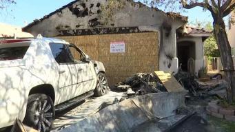 Incendio destruye hogar de familia en Las Vegas