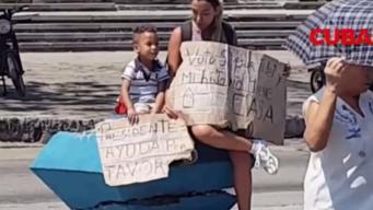 Madre cubana pide casa al gobierno