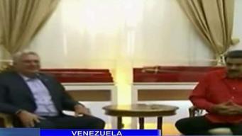 Maduro recibe a Díaz-Canel