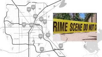 Mapa: Ataques mortales en el área de Las Vegas durante el 2019