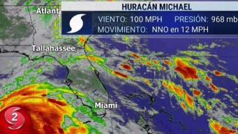 Michael se fortalece a huracán categoría 2