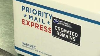 Envían restos por correo desde Las Vegas y los roban