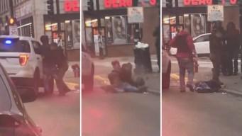 Perturbador video: queda inconsciente durante arresto