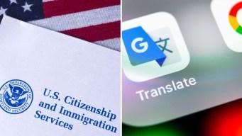 USCIS usa Google para traducir peticiones de asilo