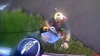 En video: dramático rescate tras mortal accidente aéreo