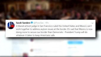 Casa Blanca arremete contra juez que bloqueó su política sobre asilo y México