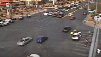Oficial resulta herido en choque en Las Vegas