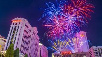 Cierres en Las Vegas por celebración de Año Nuevo