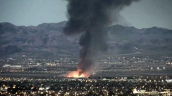 Incendio en parque de LV se ve a millas de distancia