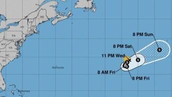 Joyce sigue camino al suroeste en el Atlántico