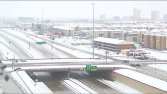 Diez pulgadas de nieve caen al norte de Texas