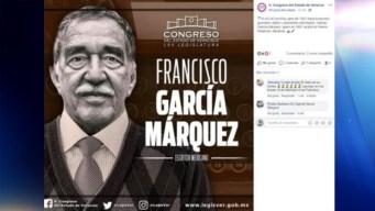 """Congreso """"cambia"""" nombre y nacionalidad a García Márquez"""
