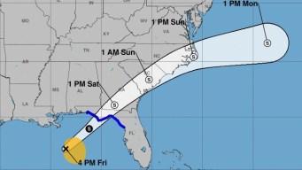 Tormenta tropical Néstor sigue su paso en el Golfo