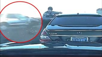 Video: oficial de NHP ve como camioneta casi lo arrolla