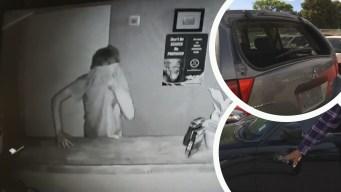 Víctima recupera sus vehículos buscando a sospechosos