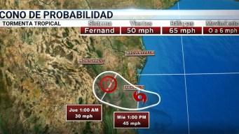 Tormenta tropical Fernand azota el noreste de México