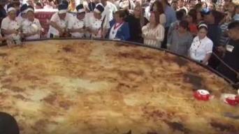 La pupusa más grande del mundo